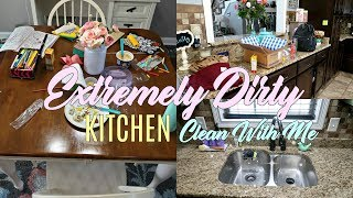 extremely messy kitchen cleaning motivation clean with me keep calm and clean
