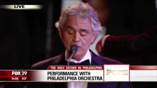 Andrea Bocelli Philadelphia Orchestra sings The Lords Prayer