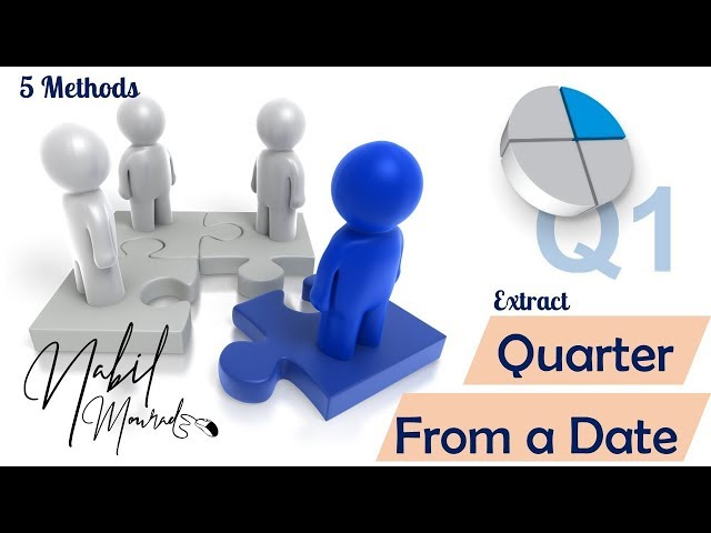 Calculate The Quarter of the year from Any Date - 5 Different Methods (Don't miss it)