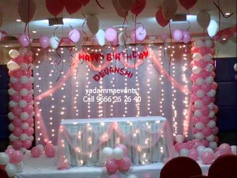 Birthday Decorations birthday decorations yd events call 9666262640 - youtube