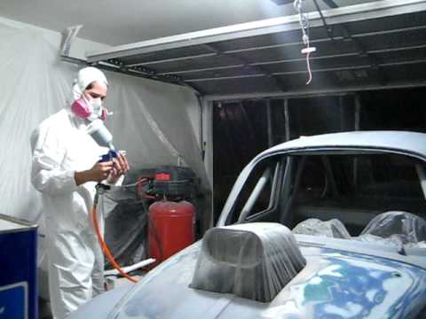 Spraying Some Of Summit Racing's 2K High Build Primer On My V8 Bug