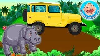 Голоса Диких Животных  - Джунгли.  Приключения с машинкой.  Развивающий  Мультик для детей