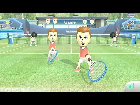 Wii Sports Club Online Tennis 2 Dr.Kendo vs. Troll