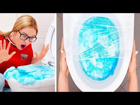 TRUCOS DE LIMPIEZA PEREZOSA DIY || Trucos de limpieza divertidos y geniales de 123 GO!