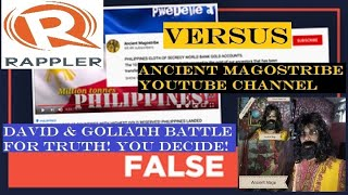 VIDEO POST NG RAPPLER LABAN KAY ANCIENT MAGOSTRIBE YOUTUBE CHANNEL PINAPAPAKALAT NA SA INTERNET?