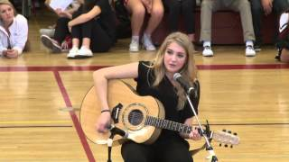 "Rachel Rolleri Sings ""Hey Jude"" - Hoopla Rally 2014"