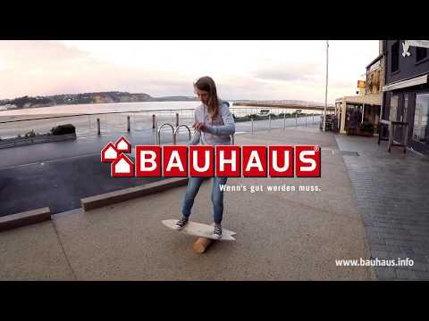 Indoor Balance Board aus Holz I Balance Trainer Balancierbrett Skateboard