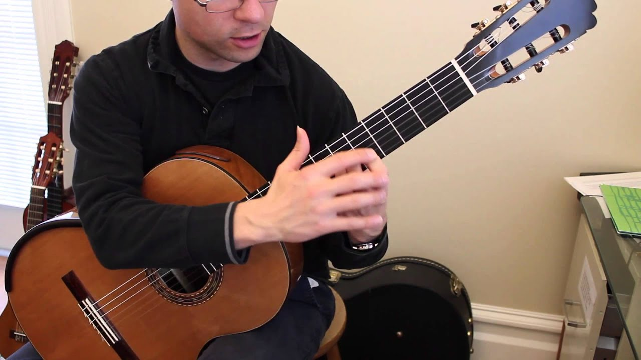 beginner warm up no 1 for classical guitar with loop control