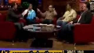 Michael Strahan and Tom Arnold Fight