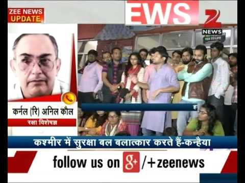 Indian Army rapes women in Kashmir: JNUSU President Kanhaiya Kumar