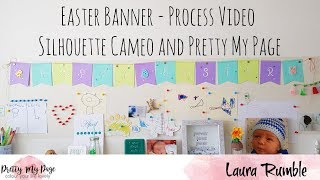 Easter Banner - Craft Process Video - Pretty My Page - Skull and Cross Buns
