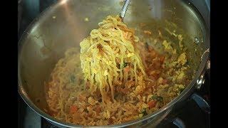 Quick Egg Maggi Noodles | Egg Maggi Masala Recipe