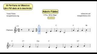50 Partituras de Villancicos de Clarinete Libro PDF con Acordes de Guitarra Y Piano Acompañamiento