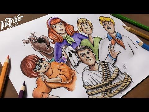 Desenhando Scooby Doo/ Drawing Scooby Doo