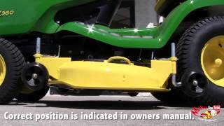 How To: Level a John Deere 48C and 54C Mower Deck