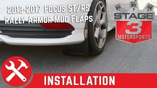 Video 2013-2017 Focus ST & RS Rally Armor Front and Rear Mud Flaps Install download MP3, 3GP, MP4, WEBM, AVI, FLV Juli 2018