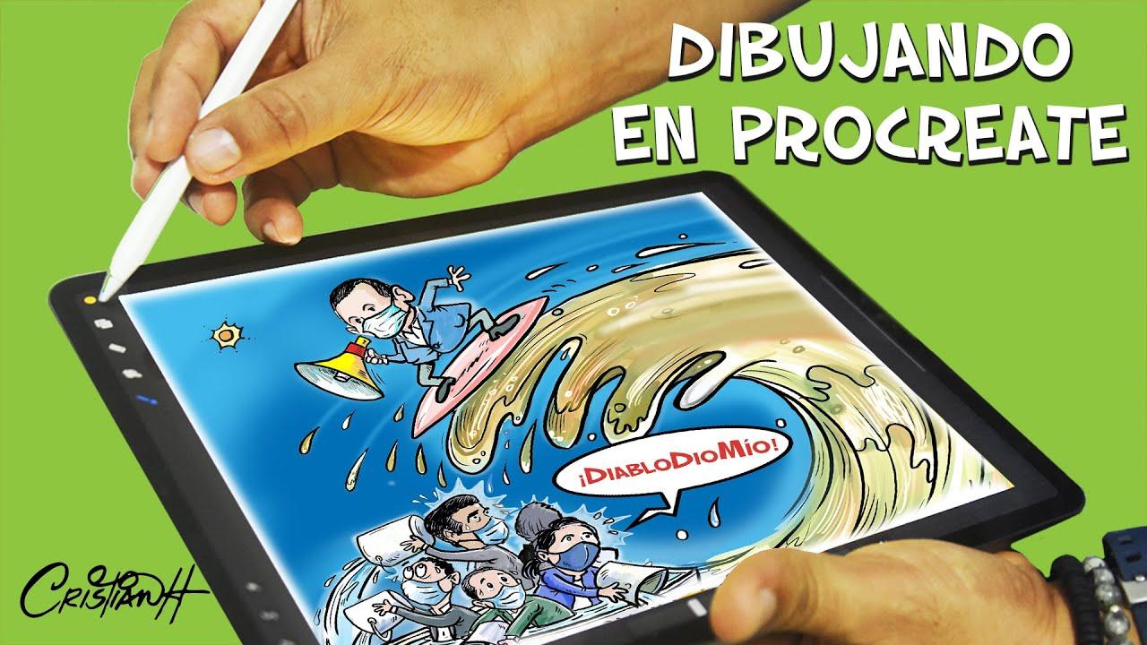 Proceso de caricatura en Procreate. #cristiancaricaturas