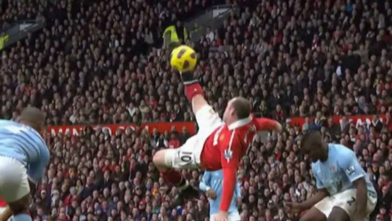 Wayne Rooney bicycle kick vs Manchester City - YouTube