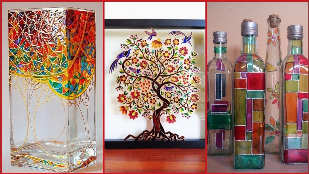 Beautiful Glass Paint Art Ideas Stylish Home Decoration Youtube