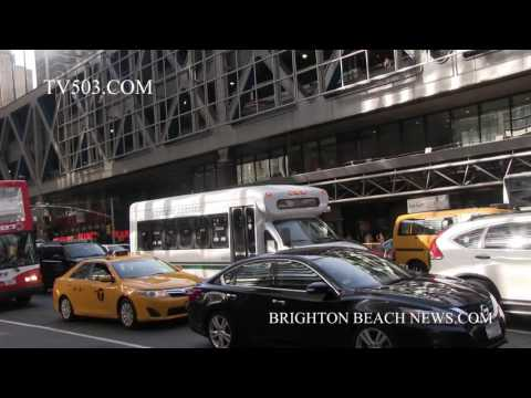 Fire and smoke on Port Authority Bus Terminal 8 Ave Manhattan NY part 2