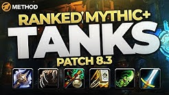 The BEST Mythic+ Tanks in 8.3? Top Ranked Classes & Specs | Method