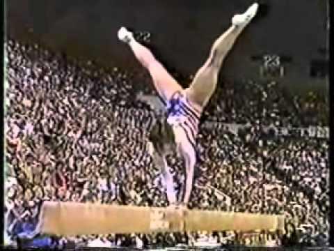 mary lou retton 1985 american cup balance beam