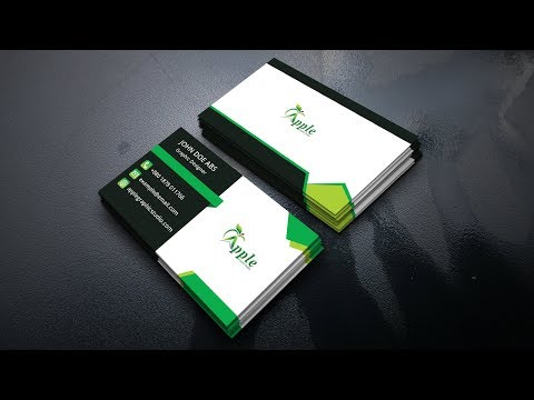 Modern Business Card Design - Photoshop CC Tutorial