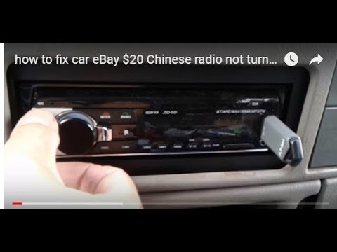how to fix car eBay $20 Chinese radio not turning on Polarlander JSD-520 USB bluetooth mp3