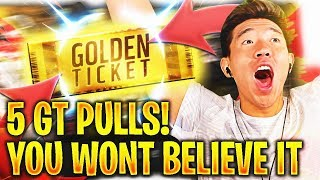 5 GOLDEN TICKET PULLS! DID THIS REALLY JUST HAPPEN? Madden 18 Ultimate Team