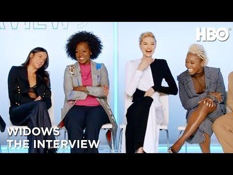 'Widows' Interview w/ Viola Davis, Michelle Rodriguez, Daniel Kaluuya & More | HBO
