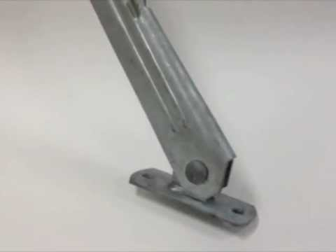Barb Wire Extention Arm Wall Mount Youtube