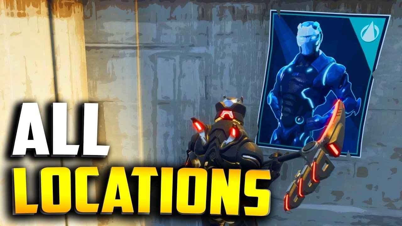 all carbide and omega poster locations spray over different carbide or omega posters all locations - fortnite omega carbide posters