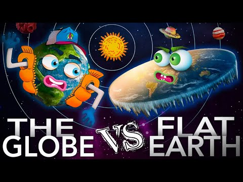 EPIC RAP BATTLES OF CONSPIRACY: THE GLOBE vs FLAT EARTH - ERBH PARODY thumbnail