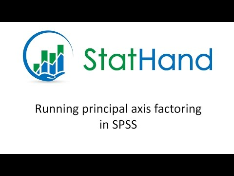 StatHand - Running principal axis factoring in SPSS