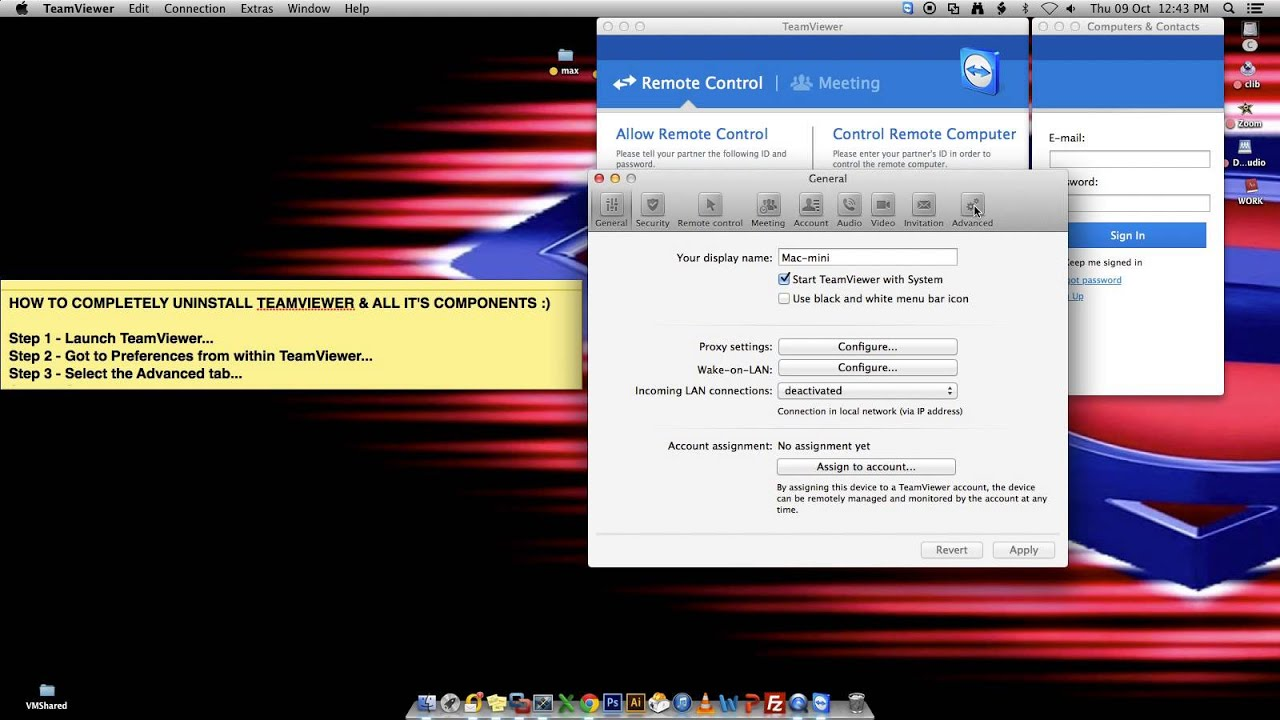 Completely Uninstalling TeamViewer on Mac OSX