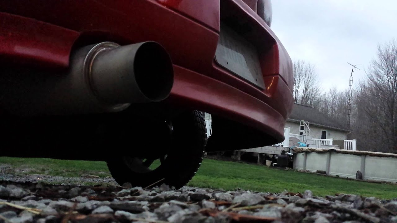 medium resolution of 02 chevy cavalier rs aftermarket 4 in n1 exhaust