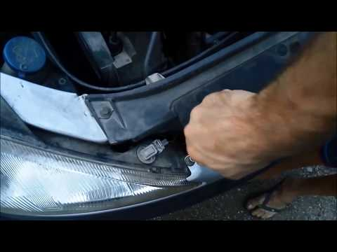 How to replace headlights Peugeot 206