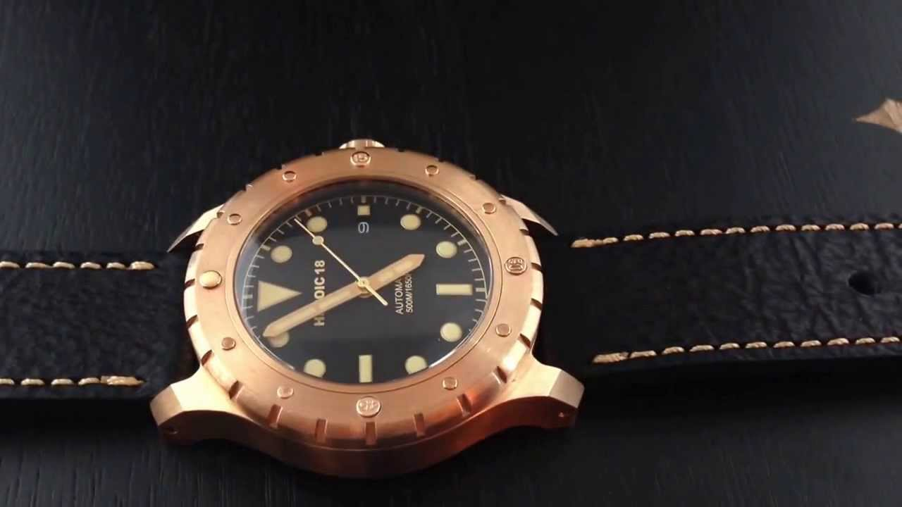 Heroic18 bronze diver video review m6480 youtube - Bronze dive watch ...