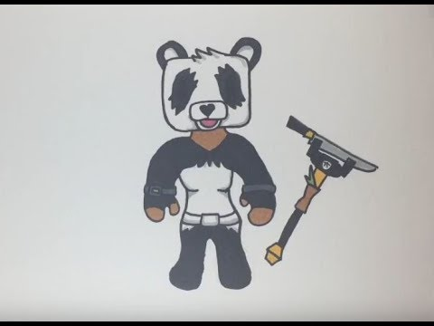 How to draw the panda team leader easy (Fortnite) - YouTube