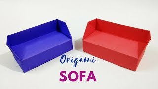 DIY - Origami Sofa | How to Make a Paper Sofa / Couch |  Origami Furniture | Craftastic