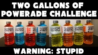 Powerade 2 Gallon Drinking Challenge Vs FreakEating *EXTREME - DO NOT ATTEMPT*