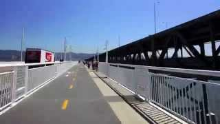 Descending the New Alexander Zuckermann Bicycle / Pedestrian Path on Opening Day