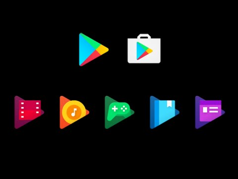 NEW GOOGLE ICONS! Google Play Music, Google Play Games, Google Play Books
