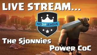 Clash of Clans LIVE: The Sjonnies vs Power CoC (NDL) End of War & 50 x 3 Star Attack Replays