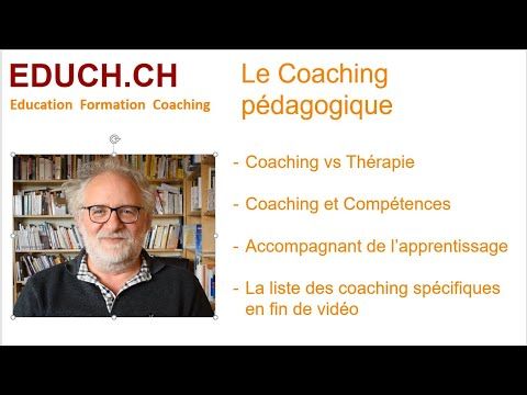 Le Coaching ? ( Formation ou Therapie)  Formation coaching Educh.ch