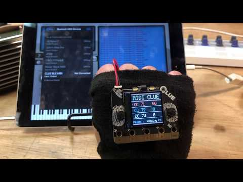 CLUE MIDI BLE Glove @adafruit @johnedgarpark #adafruit