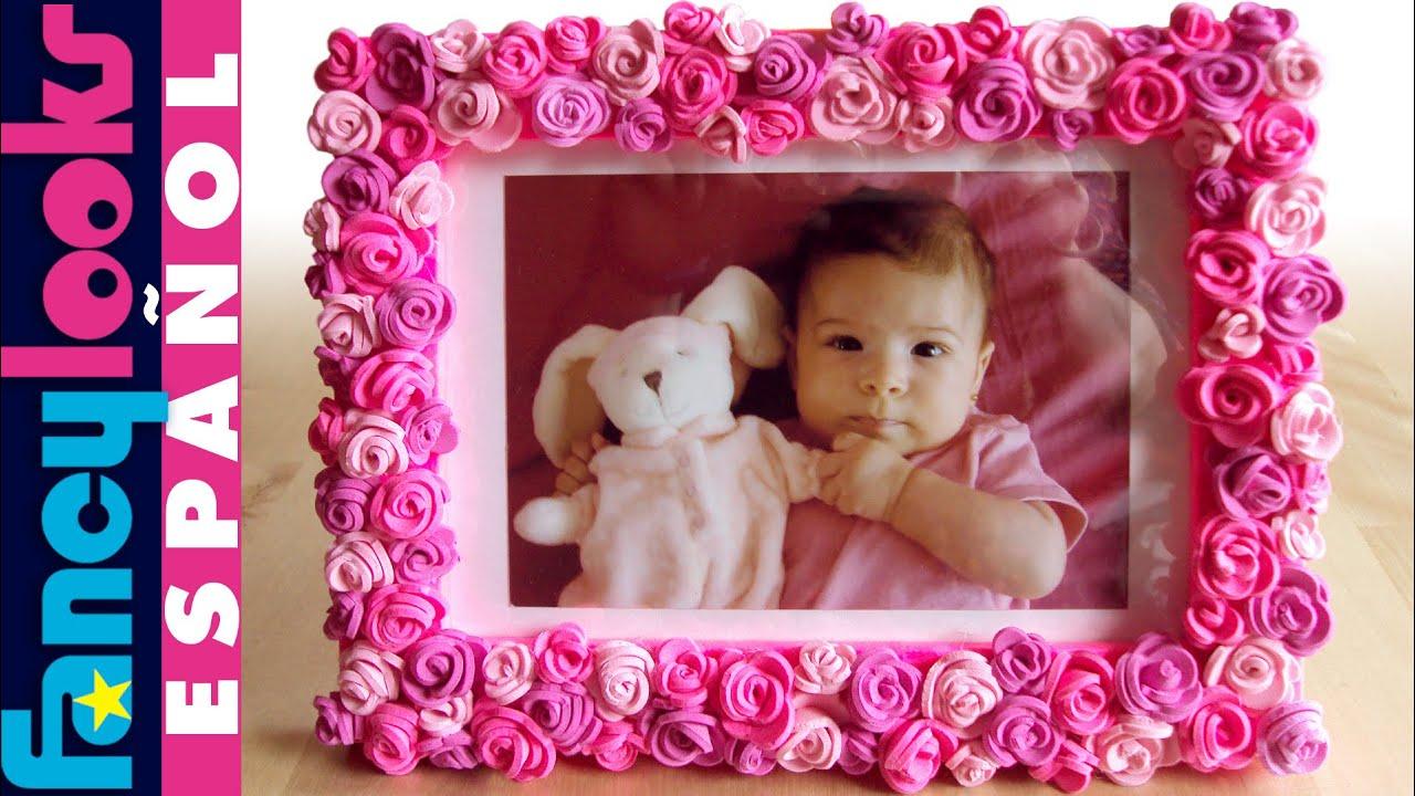 Cómo hacer Marco de rosas de goma Eva - YouTube