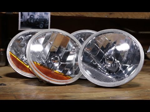 Speedway 7 Inch Fluted Headlights With Clear Amber Turn