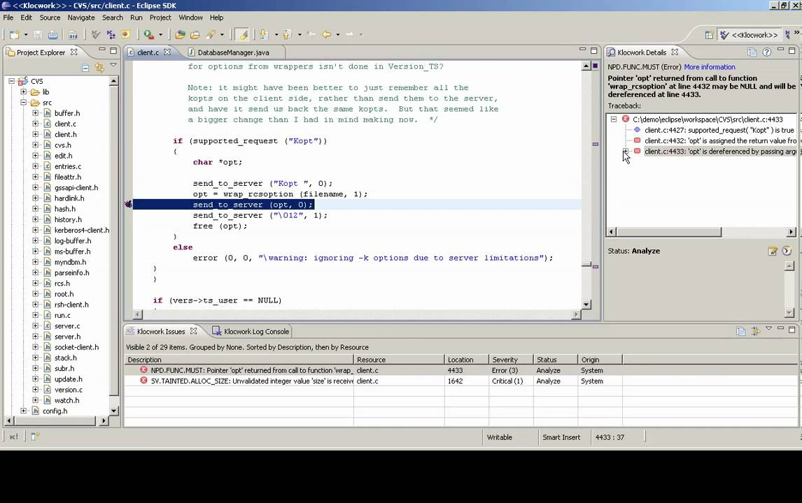 Static Analysis Plug-in for Eclipse - YouTube