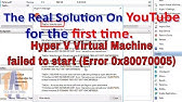If unable to start virtual machine, do this - YouTube